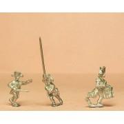 Prussian 1806-08: Command: Line Infantry Officer, Standard Bearer and Drummer