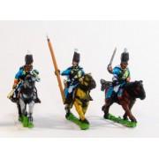 Cavalry: Command: Hussar Officer, Standard Bearer & Trumpeter in Mirliton