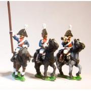 Cavalry: Dragoon Officer, Standard Bearer & Drummer