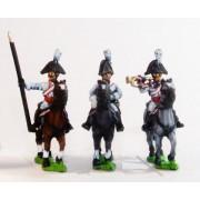 Cavalry: Command: Cuirassier Officer, Standard Bearer & Drummer