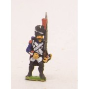 French: Old Guard: in Full dress, advancing with Musket upright