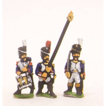 French: Old Guard: Command: in Full dress: Officers, Standard Bearers & Drummers