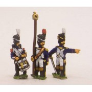 French: Guard Chasseur: Command: Officers, Standard Bearers & Drummers