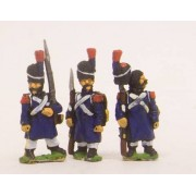 French: Old Guard in Greatcoat & Bearskin, assorted poses