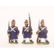 French: Old Guard or Chasseur: in Greatcoat & Bonnet de Police, in assorted poses