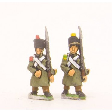 French: Line Grenadier or Voltigeur in Greatcoat, advancing