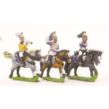 French: Cavalry: Command: Cuirassier Officer, Standard Bearer & Trumpeter