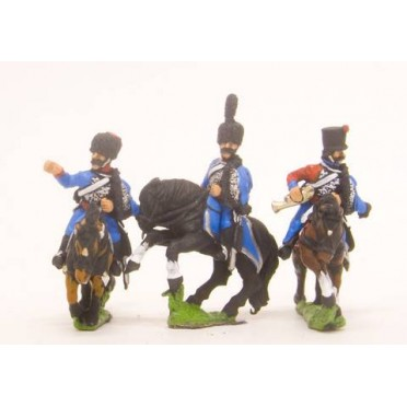 French: Cavalry: Command: Hussar Officer, Standard Bearer & Trumpeter