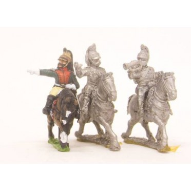 French: Cavalry: Command: Dragoon Officer, Standard Bearer, Trumpeter