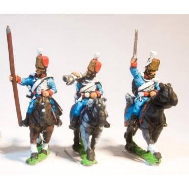 Cavalry: Command: Hussar: Officer, Standard Bearer & Trumpeter