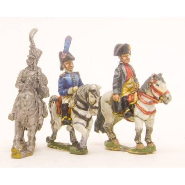 French: Command: Napoleon & 2 Staff Officers (Mounted)