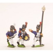 French: Old Guard: Command: in Campaign Dress & Bearskin, charging