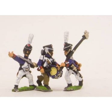 French: Middle Guard 1806-1814: Command: Fusiliers Grenadiers Officers, Standard Bearers & Drummers