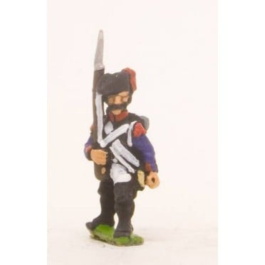 French: Line Infantry 1793-1806: Grenadier in Bicorne, advancing with Musket upright