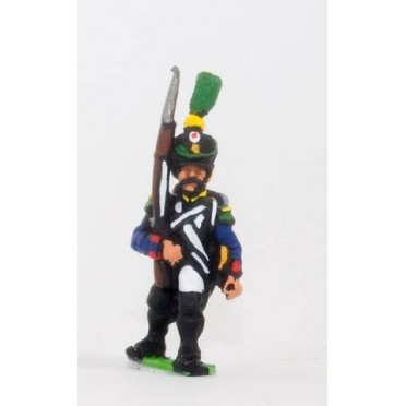 French: Line Infantry 1806-1812: Grenadier in Shako, advancing with Musket upright