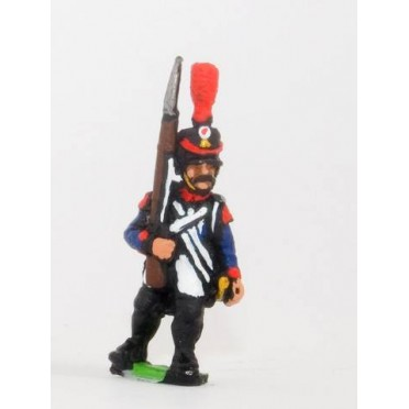 French: Line Infantry 1806-1812: Voltigeur in Shako, advancing with Musket upright