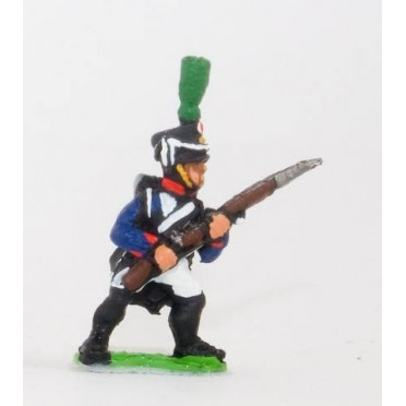 French: Line Infantry 1806-1812: in Shako, advancing with Musket at 45 degrees