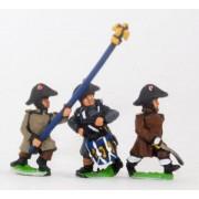 French: Line Infantry 1806-1812: Command: Officer, Standard Bearer & Drummer in Greatcoat & Bicorne