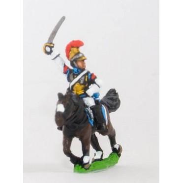 French: Cavalry: Mounted Caribinier in Helmet