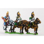 French: Cavalry: Command: Empress Officer, Standard Bearer & Trumpeter