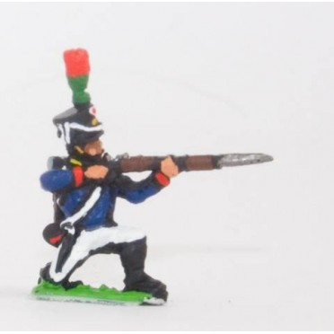 French: Young Guard 1809-1815: FlanqueursGrenadiers or FlanqueursChasseurs: Kneeling, firing