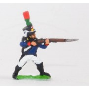 French: Young Guard 1809-1815: FlanqueursGrenadiers or FlanqueursChasseurs: Standing, firing