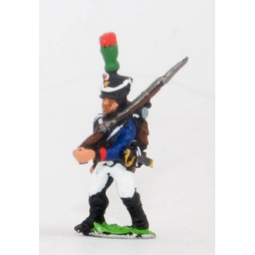 French: Young Guard 1809-1815: TirailleursGrenadiers or TirailleursChasseurs: Advancing with shouldered Musket