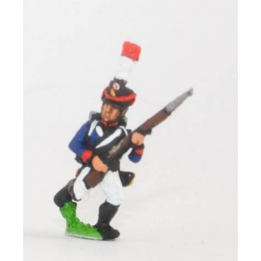 French: Young Guard 1809-1815: TirailleursGrenadiers or TirailleursChasseurs: Advancing with Musket at 45 degrees