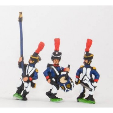 French: Young Guard 1809-1815: Command: Officers, Standard Bearer & Drummer, suitable for all Young Guard units