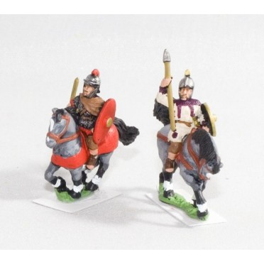 Late Imperial Roman: Light cavalry with javelin & shield
