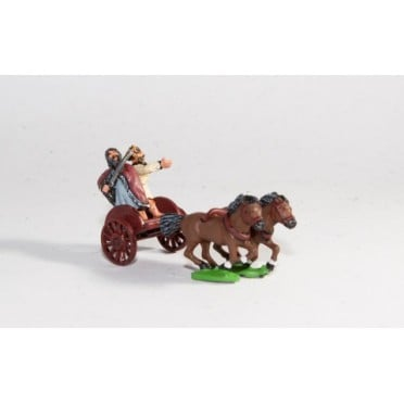 Scots Irish: Two horse Chariot with driver & General