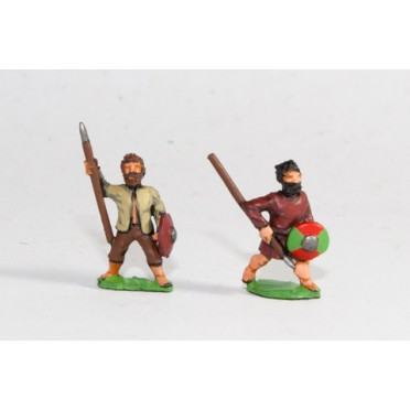 Scots Irish: Warband Infantry with javelins & shield