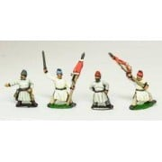 Tang & Sui Chinese: 3 Officers & 3 Standard Bearers
