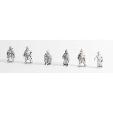 Camps: Six assorted standing Europeans - Dark Ages to Medieval