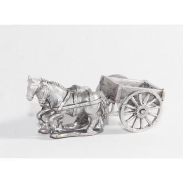 Mule cart with mule