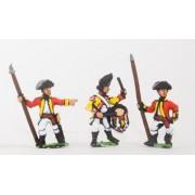AWI British: Command: Line Officer, Standard Bearer & Drummer pas cher