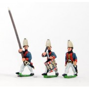 AWI German: Command: Grenadier Officer, Standard Bearer & Drummer, advancing pas cher