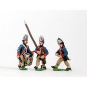 AWI German: Command: Fusilier Officer, Standard Bearer & Drummer pas cher