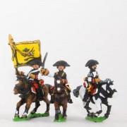 Seven Years War Austrian: Command: Cuirassier Officer, Standard Bearer & Trumpeter pas cher