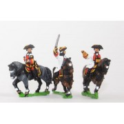 Seven Years War Austrian: Command: Mounted General with two Staff Officers pas cher