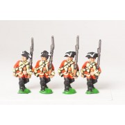 Seven Years War British: Musketeers, advancing, Musket upright, assorted pas cher