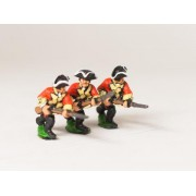 Seven Years War British: Musketeers, advancing, Musket forward, assorted pas cher