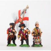 Seven Years War British: Command: Officer, Standard Bearer & Drummer pas cher