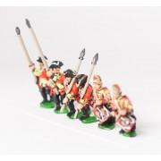 Seven Years War British: Command: Line Infantry Officer, Standard Bearer & Drummer, with variants pas cher