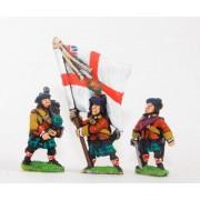 Seven Years War British: Command: Scots Officer, Standard Bearer & Piper pas cher