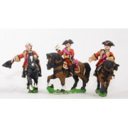 Seven Years War British: Command: Mounted General & two Staff Officers pas cher