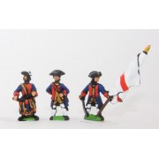 Seven Years War British in Canada: Command: Militia Officers, Standard Bearers & Drummers pas cher