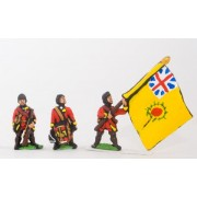 Seven Years War British in Canada: Command: Officer, Standard Bearer & Drummer in Campaign Dress pas cher