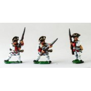 Seven Years War French: Fusiliers, at the ready, assorted poses pas cher