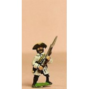 Seven Years War French: Grenadier advancing in Tricorne pas cher